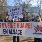 Boycotter l'implantation de l'usine Huawei à Brumath. (Image : Caroline Daix / VisionTimes)